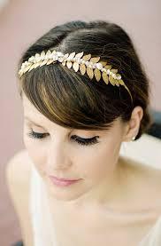 gold leaf headband gold leaf headband pearl bridal headpiece headband