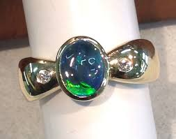 black opal mens ring black fire opal engagement ring junxin new blue fire opal ring