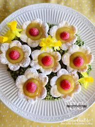 raspberry lemon curd flower tartlets stonegable