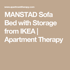 Ikea Manstad Sofa by Manstad Sofa Bed With Storage From Ikea Apartment Therapy