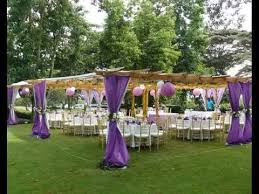 Wedding Linens Linens And Decor Kenya Party Pergola Purple Wedding Setup Youtube