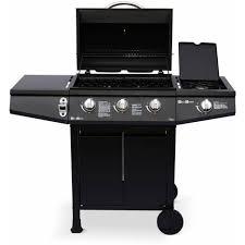 cuisiner avec barbecue a gaz barbecue au gaz treville noir 3 brûleurs feu latéral avec