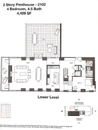 grey gardens floor plan bi level penthouse at one riverside with 4 terraces wants 7m