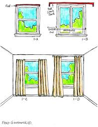 Hanging Panel Curtains The Right Way To Hang Curtains And Drapes Stack Back U2026stack Back