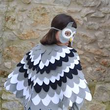 owl mask owl mask and wing cape children s costume by bhb kidstyle
