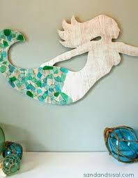 wooden mermaid wall hanging make a wood mermaid for wall decor diy