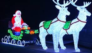 l 6m led santa claus with deer carriage outdoor decoration lights