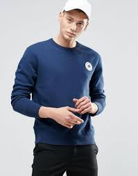 shop converse converse chupatch crew sweatshirt in blue 10002133