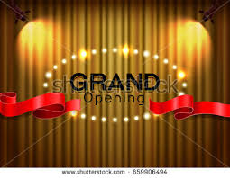 Curtains With Ribbons Grand Opening Vector Concept Red Curtains Stock Vector 639994312