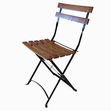 Metal Folding Bistro Chairs Bistro Metal Wood Folding Chair
