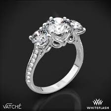 engagement ring settings only platinum vatche 324 swan three engagement ring setting only