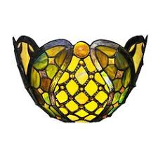 Wireless Led Wall Sconce Mission Art Glass Wall Sconce In Stained Glass Battery Operated