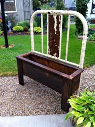 Bed Frame Bench How To Make A Bench And Planter From Bed Frames Flea Market