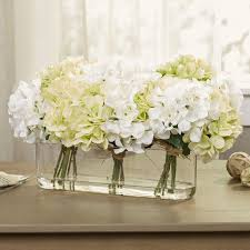 hydrangea centerpiece in glass vase reviews birch