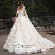 2016 vintage lace wedding dresses arab ball gown off shoulder