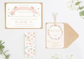 wedding invitations floral country floral wedding invitations bundle norma dorothy
