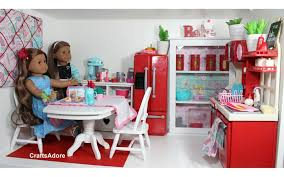 Dolls House Kitchen Furniture American Doll House Room Tour Kitchen Hd Youtube