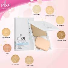 Bedak Pixy Compact Powder Finish pixy uv whitening two way cake fit compact powder bedak