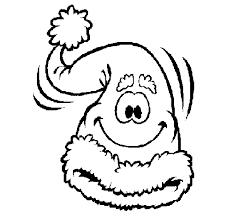 Coloriage de Bonnet du Père Noël pour Colorier  Coloritoucom