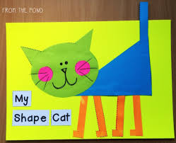 more 2d shape animal crafts a fox freebie frog spot