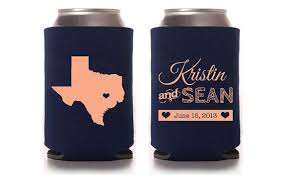 custom wedding koozies wedding koozies ideas criolla brithday wedding