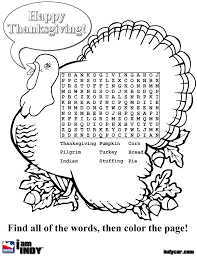 thanksgiving coloring pages and word searches throughout