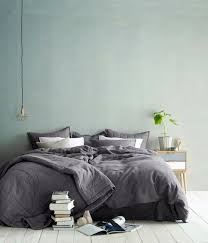Gray Green Bedroom - nice color on that wall maybe for the new house or be a dare