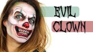 evil clown face painting ashlea henson youtube
