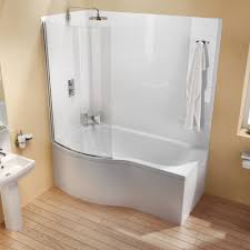 shower baths bathroom hunter cleargreen ecoround 1700 x 900mm shower bath left hand
