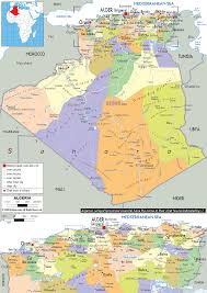 Map O Detailed Clear Large Map Of Algeria Ezilon Maps