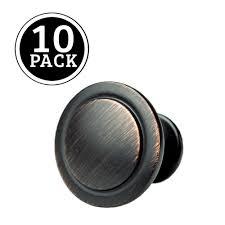 oil rubbed bronze kitchen cabinet knobs 1 1 4 inch round drawer