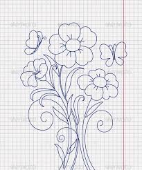 kidstyle flower sketch on the paper sheet by allaya graphicriver