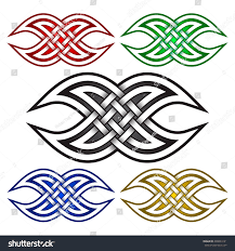 intersecting waves form logo symbol celtic stock vector 409824121