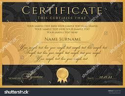 certificate diploma completion black design template imagem