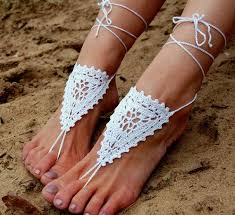 wedding shoes and accessories crochet wedding shoes crochet barefoot sandals anklet
