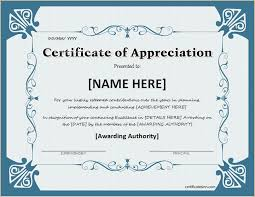 certificate of appreciation for ms word download at http