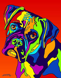 boxer dog grooming buy boxer matted prints u0026 canvas giclées at multi color dog prints