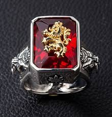 red jewelry rings images Brand new red stone rasta lion 925 sterling silver jpg