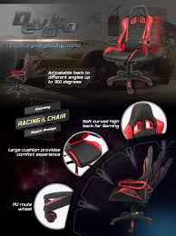 Cloud 9 Gaming Chair Amazon Com Devoko Gaming Chair Racing Style Bucket Seat Premium
