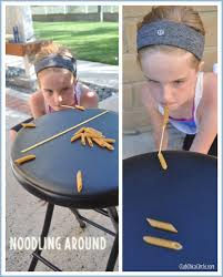 noodling around objective using a of spaghetti in your