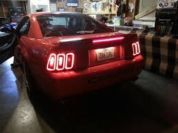 mustang led tail lights new raxiom icon led tail lights from american muscle for 99 04
