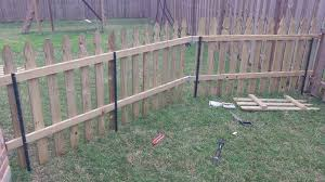 building a semi permanent fence 6 steps temporary fence ideas