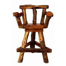 furniture wooden bar stool with arm and back using triangle foot