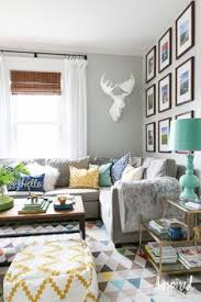 margaret elizabeth s home tour living room sofa colour gray and