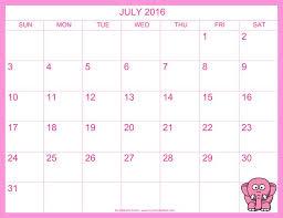 202 best july calendar printable template images on pinterest