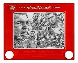 artist creates incredible celebrity portraits on an etch a sketch