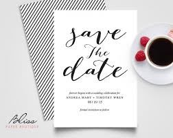 wedding invitations and save the dates black and white custom printable save the date save the date