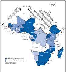Africa Regions Map by Progress Toward Measles Elimination U2014 African Region 2013 U20132016 Mmwr