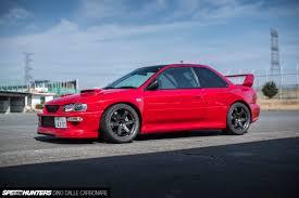 red subaru sedan 555 horses of widened fury speedhunters