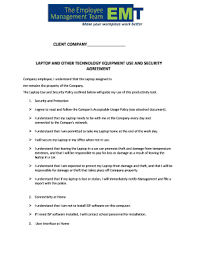 company laptop agreement template edit print fill out